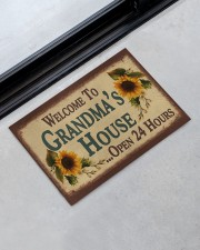 """WELCOME TO GRANDMA'S HOUSE OPEN 24 HOURS Doormat 22.5"""" x 15""""  aos-doormat-22-5x15-lifestyle-front-09"""