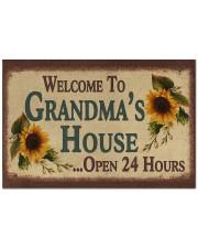 """WELCOME TO GRANDMA'S HOUSE OPEN 24 HOURS Doormat 22.5"""" x 15""""  front"""