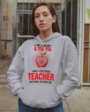 NOTHING SCARES ME - PERFECT GIFT FOR YIAYIA Hooded Sweatshirt apparel-hooded-sweatshirt-lifestyle-08