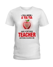 NOTHING SCARES ME - PERFECT GIFT FOR YIAYIA Ladies T-Shirt tile