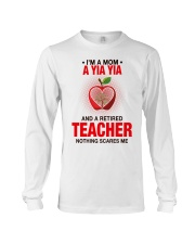 NOTHING SCARES ME - PERFECT GIFT FOR YIAYIA Long Sleeve Tee tile