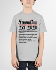 5 THINGS ABOUT MY MIMI - BEST GIFT FOR GRANDKIDS Youth T-Shirt garment-youth-tshirt-front-01