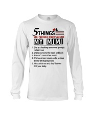 5 THINGS ABOUT MY MIMI - BEST GIFT FOR GRANDKIDS Long Sleeve Tee tile