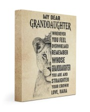 STRAIGHTEN YOUR CROWN -BEST GIFT FOR GRANDDAUGHTER 11x14 Gallery Wrapped Canvas Prints front