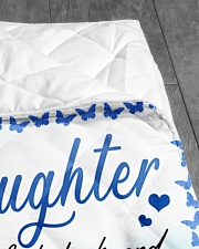 "I LOVE YOU - SPECIAL GIFT FOR GRANDDAUGHTER Quilt 50""x60"" - Throw aos-quilt-50x60-lifestyle-closeup-front-07"