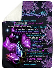 "NEVER LOSE - GRANDDAUGHTER GIFT WITH BUTTERFLY Large Sherpa Fleece Blanket - 60"" x 80"" thumbnail"