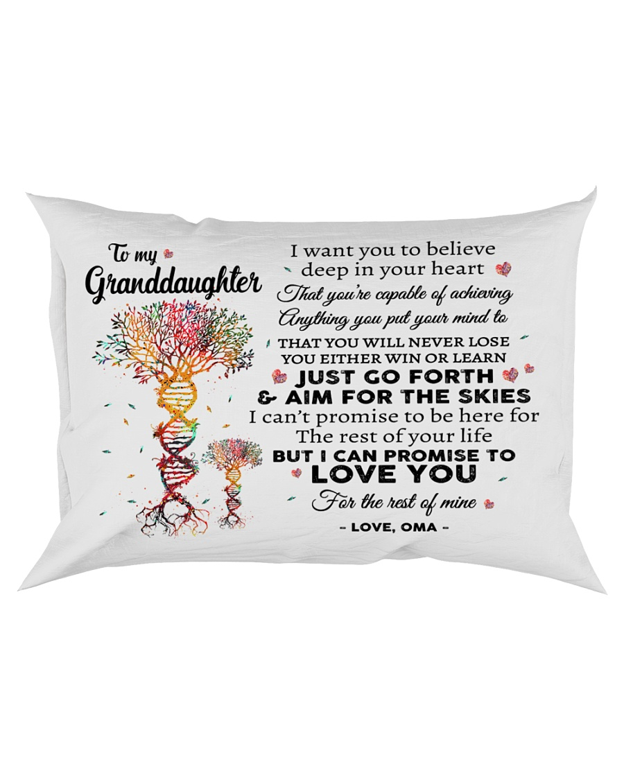 LOVE YOU - PERFECT GIFT FOR GRANDDAUGHTER FROM OMA Rectangular Pillowcase
