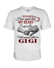NEVER KNEW HOW MUCH LOVE MY HEART - GIGI V-Neck T-Shirt tile