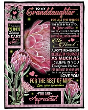 """YOU ARE APPRECIATED - GRANDMA TO GRANDDAUGHTER Large Fleece Blanket - 60"""" x 80"""" thumbnail"""