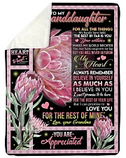 """YOU ARE APPRECIATED - GRANDMA TO GRANDDAUGHTER Large Sherpa Fleece Blanket - 60"""" x 80"""" thumbnail"""