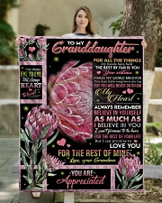 """YOU ARE APPRECIATED - GRANDMA TO GRANDDAUGHTER Quilt 50""""x60"""" - Throw aos-quilt-50x60-lifestyle-front-03"""