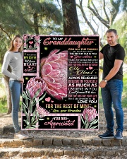 """YOU ARE APPRECIATED - GRANDMA TO GRANDDAUGHTER Quilt 50""""x60"""" - Throw aos-quilt-50x60-lifestyle-front-04"""