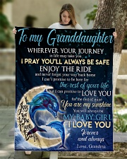 """I LOVE YOU - BEST GIFT FOR GRANDDAUGHTER Quilt 50""""x60"""" - Throw aos-quilt-50x60-lifestyle-front-01"""