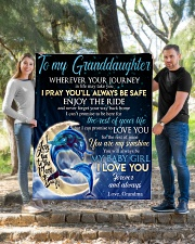 """I LOVE YOU - BEST GIFT FOR GRANDDAUGHTER Quilt 50""""x60"""" - Throw aos-quilt-50x60-lifestyle-front-04"""