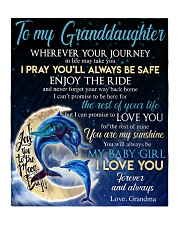 """I LOVE YOU - BEST GIFT FOR GRANDDAUGHTER Quilt 50""""x60"""" - Throw front"""