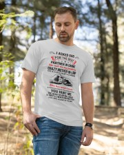 I ASKED GOD - BEST GIFT FOR SON-IN-LAW Classic T-Shirt apparel-classic-tshirt-lifestyle-front-49