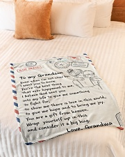 """YOU'RE THE BEST THING - GIFT FOR GRANDSON Small Fleece Blanket - 30"""" x 40"""" aos-coral-fleece-blanket-30x40-lifestyle-front-01"""