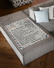 """YOU'RE THE BEST THING - GIFT FOR GRANDSON Small Fleece Blanket - 30"""" x 40"""" aos-coral-fleece-blanket-30x40-lifestyle-front-03"""