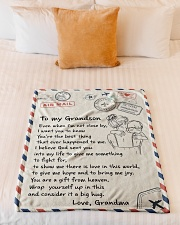 """YOU'RE THE BEST THING - GIFT FOR GRANDSON Small Fleece Blanket - 30"""" x 40"""" aos-coral-fleece-blanket-30x40-lifestyle-front-04"""