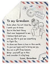 """YOU'RE THE BEST THING - GIFT FOR GRANDSON Large Sherpa Fleece Blanket - 60"""" x 80"""" thumbnail"""