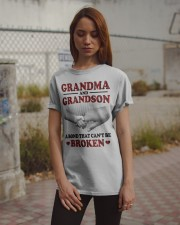 CAN'T BE BROKEN - GIFT FOR GRANDMA AND GRANDSON Classic T-Shirt apparel-classic-tshirt-lifestyle-18