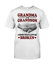 CAN'T BE BROKEN - GIFT FOR GRANDMA AND GRANDSON Classic T-Shirt tile