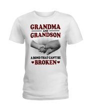 CAN'T BE BROKEN - GIFT FOR GRANDMA AND GRANDSON Ladies T-Shirt tile