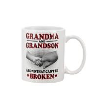 CAN'T BE BROKEN - GIFT FOR GRANDMA AND GRANDSON Mug tile