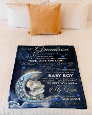 """I AM ALWAYS WITH YOU - BEAUTIFUL GIFT TO GRANDSON  Small Fleece Blanket - 30"""" x 40"""" aos-coral-fleece-blanket-30x40-lifestyle-front-04"""