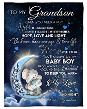 """I AM ALWAYS WITH YOU - BEAUTIFUL GIFT TO GRANDSON  Small Fleece Blanket - 30"""" x 40"""" front"""