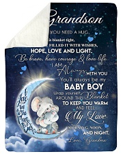 """I AM ALWAYS WITH YOU - BEAUTIFUL GIFT TO GRANDSON  Large Sherpa Fleece Blanket - 60"""" x 80"""" thumbnail"""
