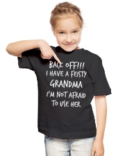 BACK OFF I HAVE A FEISTY - GRANDMA Youth T-Shirt lifestyle-youth-tshirt-front-2