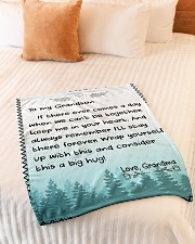 "A BIG HUG - TO GRANDSON FROM GRANDMA Small Fleece Blanket - 30"" x 40"" aos-coral-fleece-blanket-30x40-lifestyle-front-01"