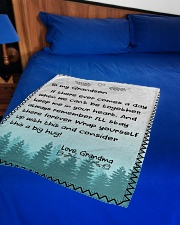 "A BIG HUG - TO GRANDSON FROM GRANDMA Small Fleece Blanket - 30"" x 40"" aos-coral-fleece-blanket-30x40-lifestyle-front-02"