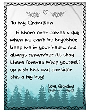 "A BIG HUG - TO GRANDSON FROM GRANDMA Small Fleece Blanket - 30"" x 40"" front"