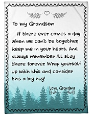 A BIG HUG - TO GRANDSON FROM GRANDMA Fleece Blanket tile