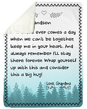 "A BIG HUG - TO GRANDSON FROM GRANDMA Large Sherpa Fleece Blanket - 60"" x 80"" thumbnail"