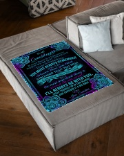 """I'LL ALWAYS BE WITH YOU - GIFT FOR GRANDDAUGHTER Small Fleece Blanket - 30"""" x 40"""" aos-coral-fleece-blanket-30x40-lifestyle-front-03"""