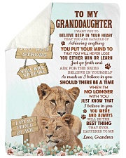 """DEEP IN YOUR HEART - BEST GIFT FOR GRANDDAUGHTER Large Sherpa Fleece Blanket - 60"""" x 80"""" thumbnail"""