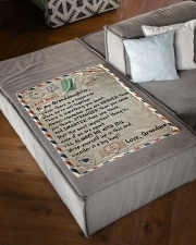 """I'LL ALWAYS BE WITH YOU - GRANDMA TO GRANDDAUGHTER Small Fleece Blanket - 30"""" x 40"""" aos-coral-fleece-blanket-30x40-lifestyle-front-03"""