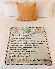 """I'LL ALWAYS BE WITH YOU - GRANDMA TO GRANDDAUGHTER Small Fleece Blanket - 30"""" x 40"""" aos-coral-fleece-blanket-30x40-lifestyle-front-04"""