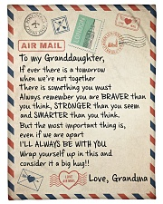 """I'LL ALWAYS BE WITH YOU - GRANDMA TO GRANDDAUGHTER Small Fleece Blanket - 30"""" x 40"""" front"""