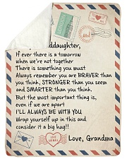 I'LL ALWAYS BE WITH YOU - GRANDMA TO GRANDDAUGHTER Sherpa Fleece Blanket tile