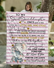"I'LL STAY THERE - GRANDDAUGHTER GIFT WITH ELEPHANT Quilt 50""x60"" - Throw aos-quilt-50x60-lifestyle-front-01"