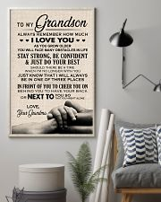 I LOVE YOU - TO GRANDSON FROM GRANDMA 11x17 Poster lifestyle-poster-1