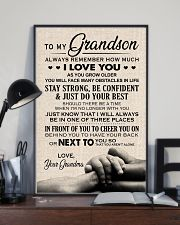 I LOVE YOU - TO GRANDSON FROM GRANDMA 11x17 Poster lifestyle-poster-2