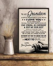 I LOVE YOU - TO GRANDSON FROM GRANDMA 11x17 Poster lifestyle-poster-3