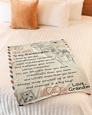 """STRAIGHTEN YOUR CROWN - GIFT FROM GRANDMA Small Fleece Blanket - 30"""" x 40"""" aos-coral-fleece-blanket-30x40-lifestyle-front-01"""