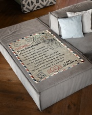 """STRAIGHTEN YOUR CROWN - GIFT FROM GRANDMA Small Fleece Blanket - 30"""" x 40"""" aos-coral-fleece-blanket-30x40-lifestyle-front-03"""