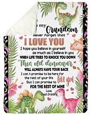 """I LOVE YOU - LOVELY GIFT FOR GRANDSON Large Sherpa Fleece Blanket - 60"""" x 80"""" thumbnail"""